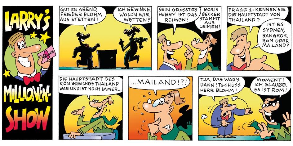 Larry´s Millionen-Show - Comic Strip für Deike Press